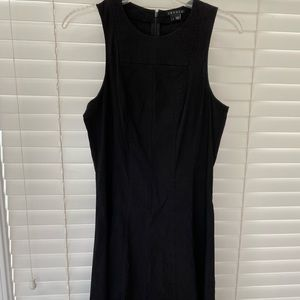 Theory black linen sleeveless dress, size 4